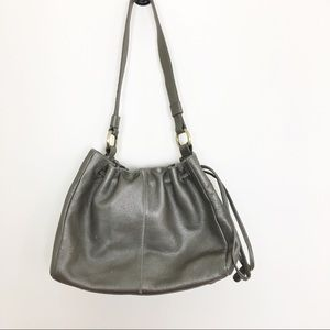 Hobo Leather purse gunmetal shoulder